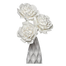 Large Village Flower - Set of 3 - White
