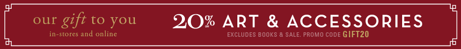 20% off art and accessories, excluding books and sale, promo code GIFT10.