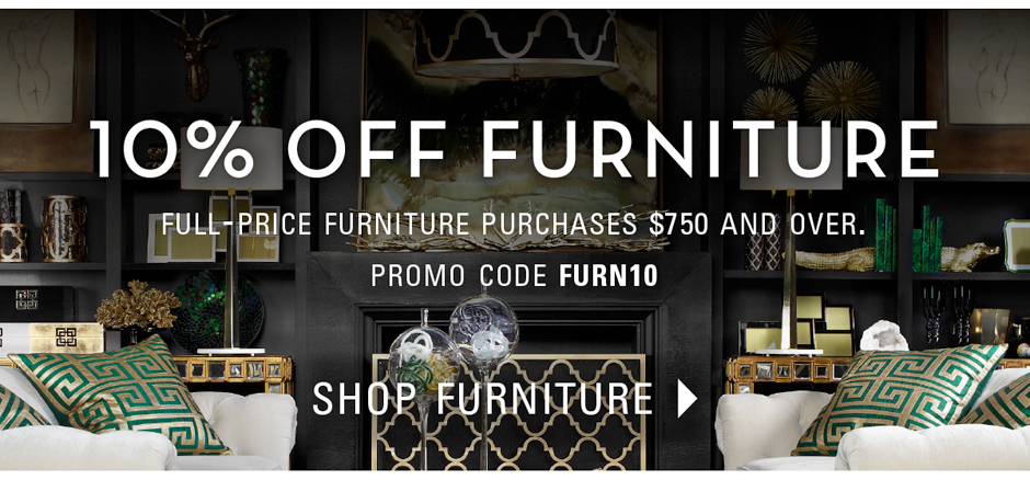 10% of full-price furniture pruchases $750 and over