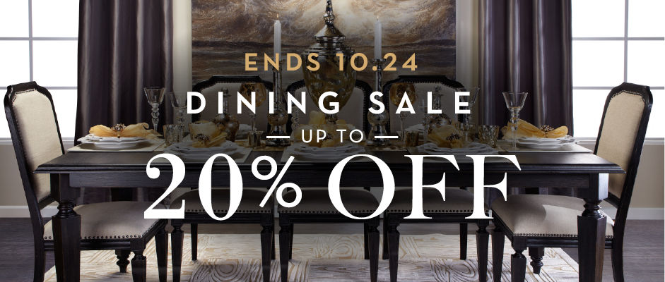 up to 20% off dining furniture