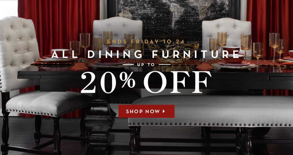 Up to 20% off dining furniture - shop now