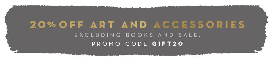 20% off art and accessories, excluding books and sale. promo code GIFT20