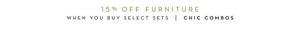 10-15% off furntiure - see details