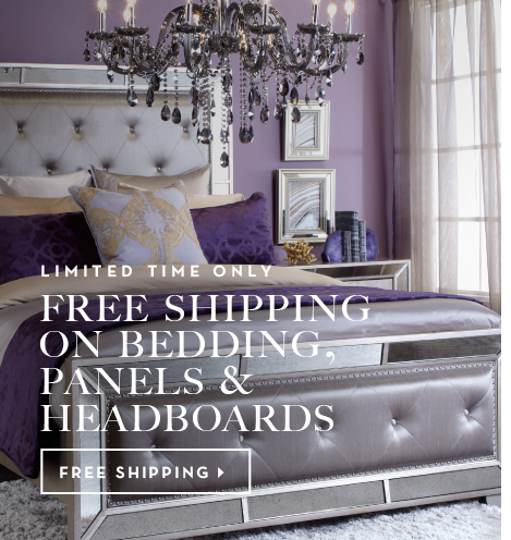 free shipping on bedding and panels