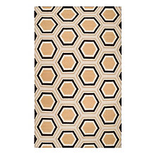 Odeon Dhurrie Rug - Chocolate/Gold