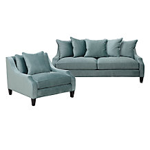 Chic Combo - Brighton Aqua Sofa & Chair