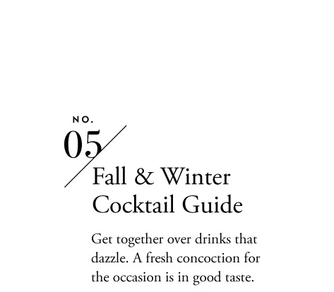 Fall & Winter Coctail Guide