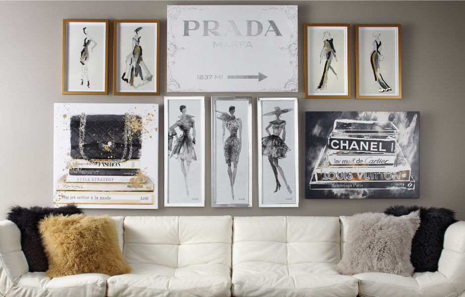 Visit Fashion Themed Artwork