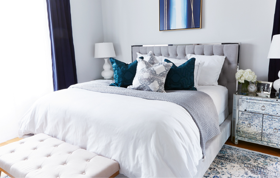 Jenny Bernheim, founder of fashion and lifestyle blog Margo & Me craved a bedroom look as colorful and chic as her fashion aesthetic.