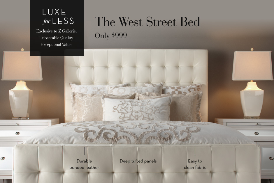 Luxe For Less   The West Street Bed