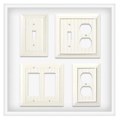 brainerd beadboard in white brainerd decorative switch plate collections