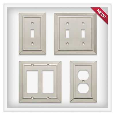 quick view classic in satin nickel - Decorative Switch Plates