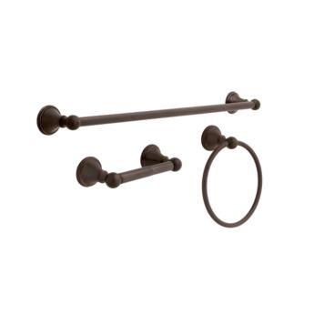 delta crestfield 3 piece bath kit 138296 delta 138296 decorative bathroom accessories hardware kits libertyhardware - Bathroom Accessories Delta