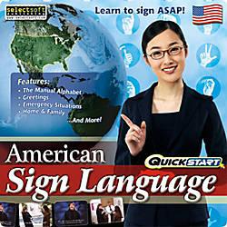 QuickStart American Sign Language Download Version