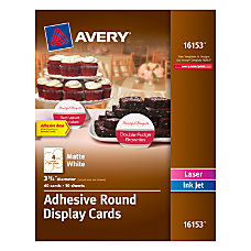 Avery Adhesive Round Display Cards 3