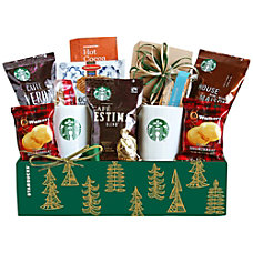 Givens Gift Basket Starbucks Holiday Evergreen