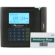 timeQplus Ethernet Time Clock With Barcode