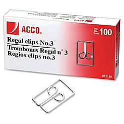 Acco Regal Owl Paper Clips No