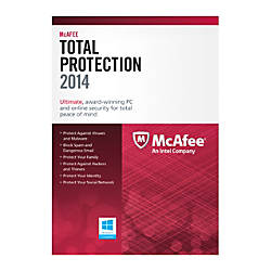 McAfee® Total Protection 2014, For 3 PCs, eCard