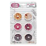 Locker Lounge Donut Magnets 1 Multicolor