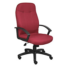 Boss Fabric Chair Burgundy