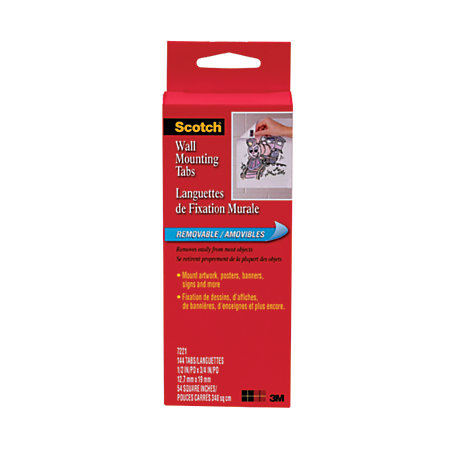 Scotch Removable Wall Mounting Tabs 12 X 34 Gray Pack Of