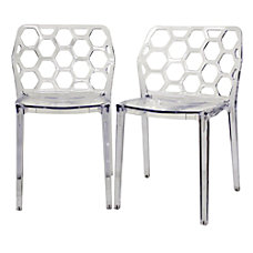 Baxton Studio Honeycomb Stackable Chairs 30