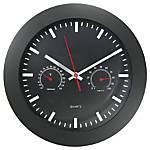 Timekeeper Round 12 Black Wall Clock