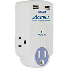 Accell Travel Surge Protector with Dual