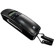 GE Black Corded Slimline Phone