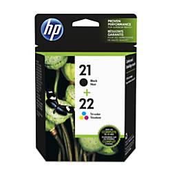 HP 2122 BlackTricolor Ink Cartridges C9509FN