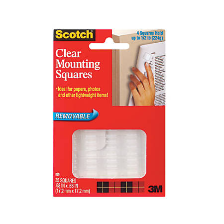 Scotch Removable Wall Mounting Tabs Clear Box Of 35 By