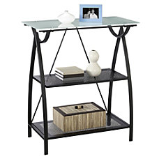 Realspace Alluna Collection Bookcase Black FrameFrosted
