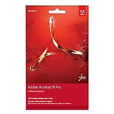 Adobe Acrobat XI Professional Keycard