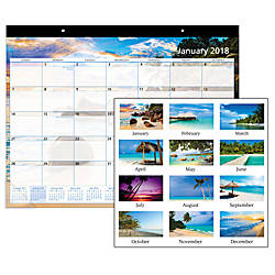 Office Depot Brand Monthly Desk Pad Calendar 22 x 17 ...