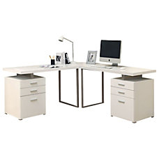 white corner & l-shaped desks at office depot officemax