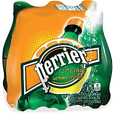 Perrier LOrange Sparkling Mineral Water Lemon