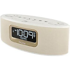 iHome iBT31 Clock Radio White