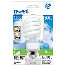 GE Spiral Compact Fluorescent Bulb Reveal