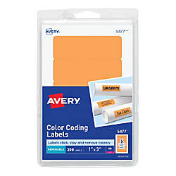 Avery Removable Rectangular Color Coding Labels