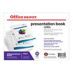 Office Depot Brand Presentation Book Refill