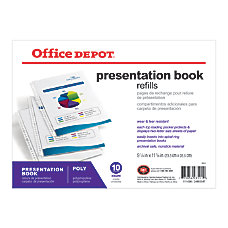 Office Depot Brand Presentation Book Refill