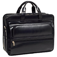 McKleinUSA ELSTON Leather Laptop Case Black