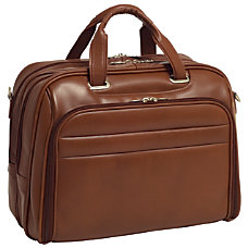 McKleinUSA Springfield Leather Laptop Case Brown