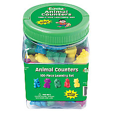 Eureka Learning Tool Tub Animal Counters