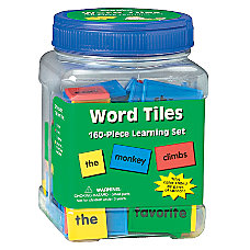 Eureka Learning Tool Tub Word Tiles