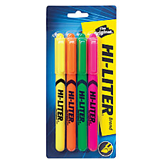 Avery Pen Style Fluorescent Highlighters Chisel