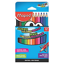 Helix Jumbo Colored Pencils Assorted Barrel