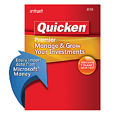 Quicken Premier 2010 Traditional Disc