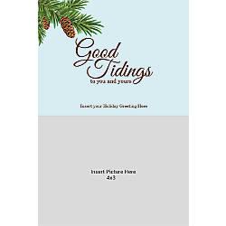 Photo Greeting Card Vertical Good Tidings